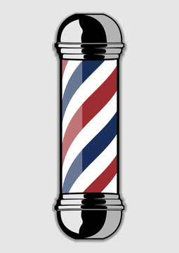 Barber Pole isolated on a white background. Vector illustration