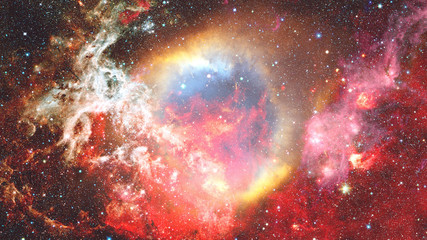 Galaxy and Nebula. Abstract background. Elements of this Image Furnished by NASA