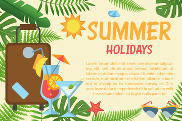 Summer holidays horizontal banner
