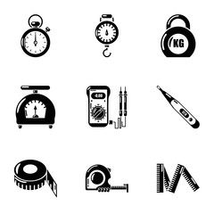Quantify icons set. Simple set of 9 quantify vector icons for web isolated on white background