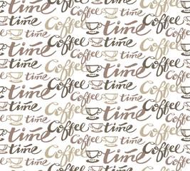 Coffe time - cute pattern