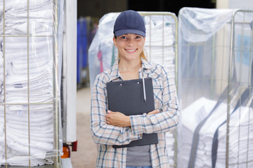 portrait of linen cleaning service manager