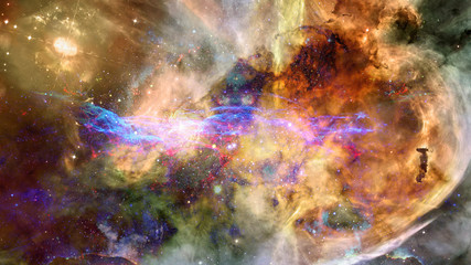 Starry deep space - nebula and galaxy. Elements of this image furnished by NASA.
