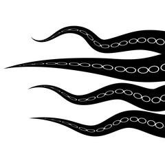 Tentacles Octopus. Parts of Sea Monster. Natural Fresh Seafood. Giant Kraken Swimming