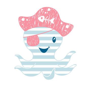 Octopus cute print
