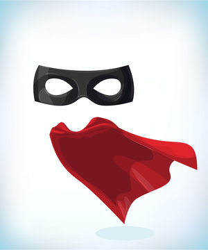 zorro mask. Masquerade costume headdress. Carnival or Halloween mask. Cartoon Vector illustration