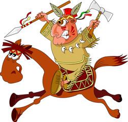 Indian horseback riding