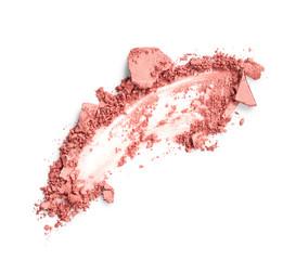 Blush smear isolated on white background