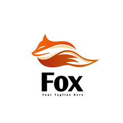 abstract sleep fox logo