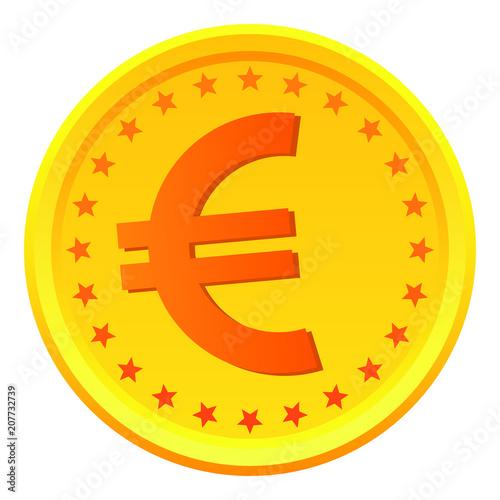 Euro Coin European Money Symbol Vector Stock Image And Royalty