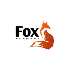 Abstract standby fox logo
