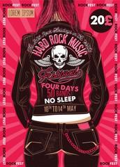 Hard Rock Festival Poster.