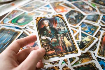 Photo of tarot card.