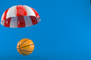 Basketball ball with parachute