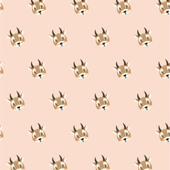 antelope pattern on pastel background.