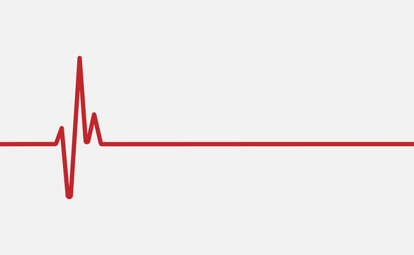 red heartbeat line icon