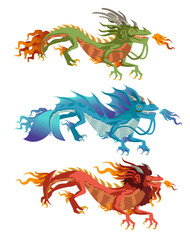 elements chinese dragons