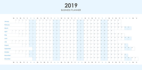 Business planner for 2019