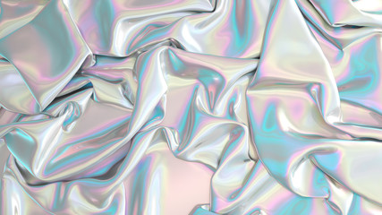 Abstract digital fabric. Sci-fi background.  Holographic foil. Illustration