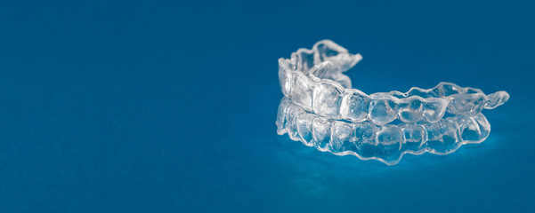 Inivisalign braces or invisible orthodontic aligner.