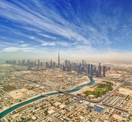 Fototapete - Aerial view of Dubai downtown,
