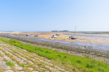 Low tide in the estuary at Wells-next-the-Sea