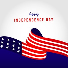 Happy USA Independent Day Vector Template Design Illustration