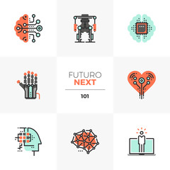 Artificial Intelligence Futuro Next Icons