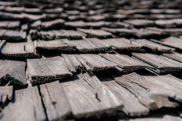 old wooden roof wood