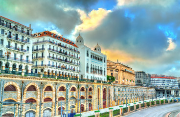 Foto op Aluminium Algerije Seaside boulevard in Algiers, the capital of Algeria