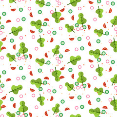 Salad vector seamless pattern.