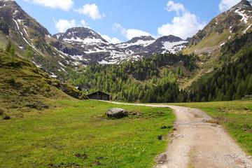 Wanderer, Wandern zum Duisitzkarsee, Steiermark, Österreich