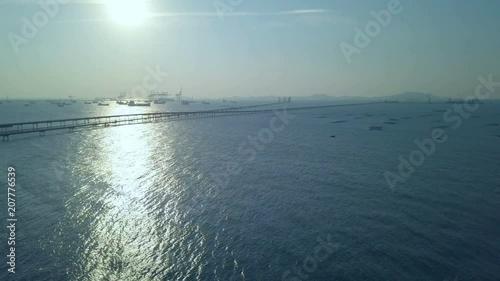 Tropical beach video loop showing seamless never ending