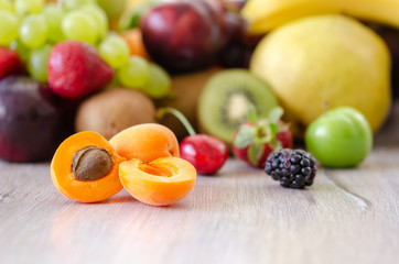 Fresh colorful fruits.  Healthy nutrition, diet concept.