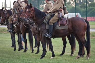 Ułani na koniach - fototapety na wymiar