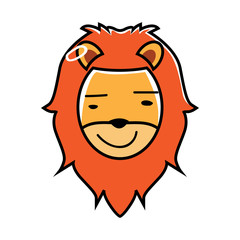 lion animal expressions in cartoons