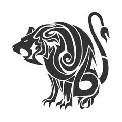 Tattoo tribal lion