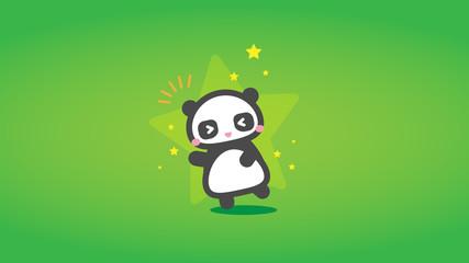 jubelnder Panda Hintergrund