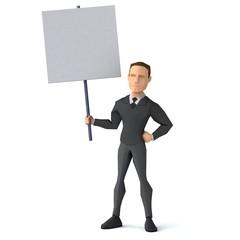 Low poly businessman - 3D Illustration