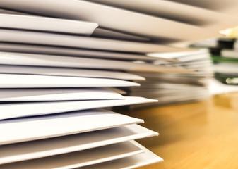 Close-up White envelope on desk,business concept,design for advertising and illustration.