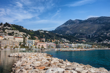 Menton Town on French Riviera