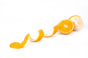 orange fruit on white background isolate.