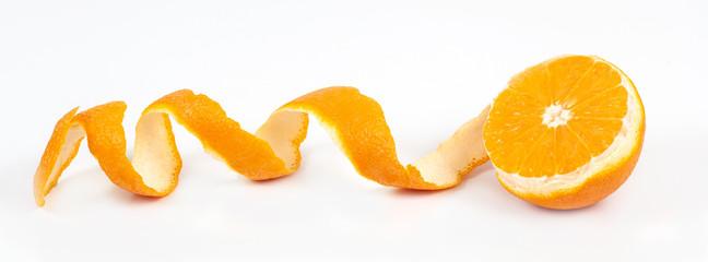 orange fruit on white background isolate.