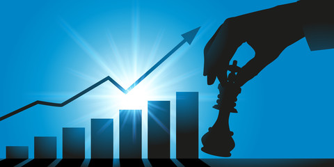 stratégie - croissance - atout - entreprise - concept - gagner - homme d'affaires - jeu d'échecs - solution