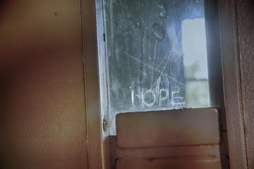 Hope in prison door