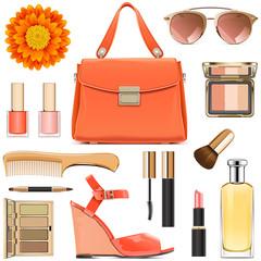 Vector Orange Female Accessories
