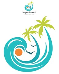 Wall Mural - Tropical Beach Abstract