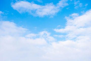 blue sky with white cloud for background