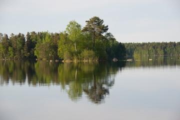 Lake Kukkia water reflections