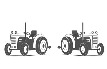 Tractor vintage farmer logo elements design